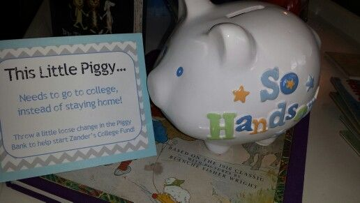 Piggy bank baby shower