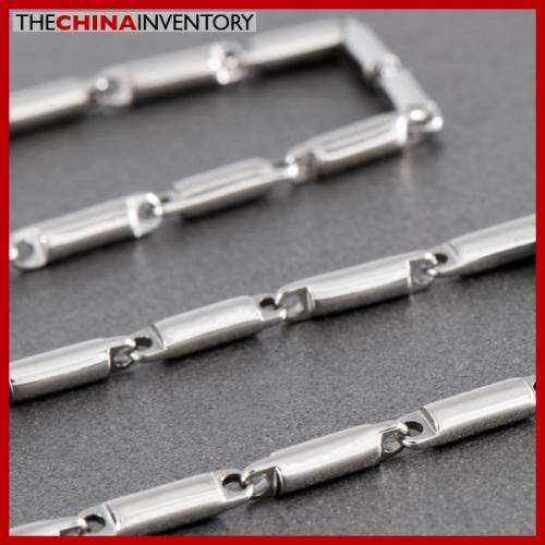 22` 5MM STAINLESS STEEL BAMBOO LINKS NECKLACE N2205