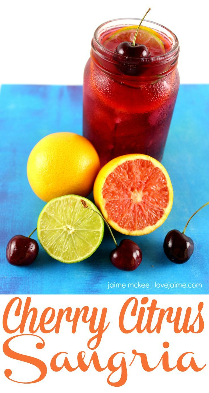 Make your own Cherry Citrus Sangria this summer | http://lovejaime.com/cherry-citrus-sangria-recipe/