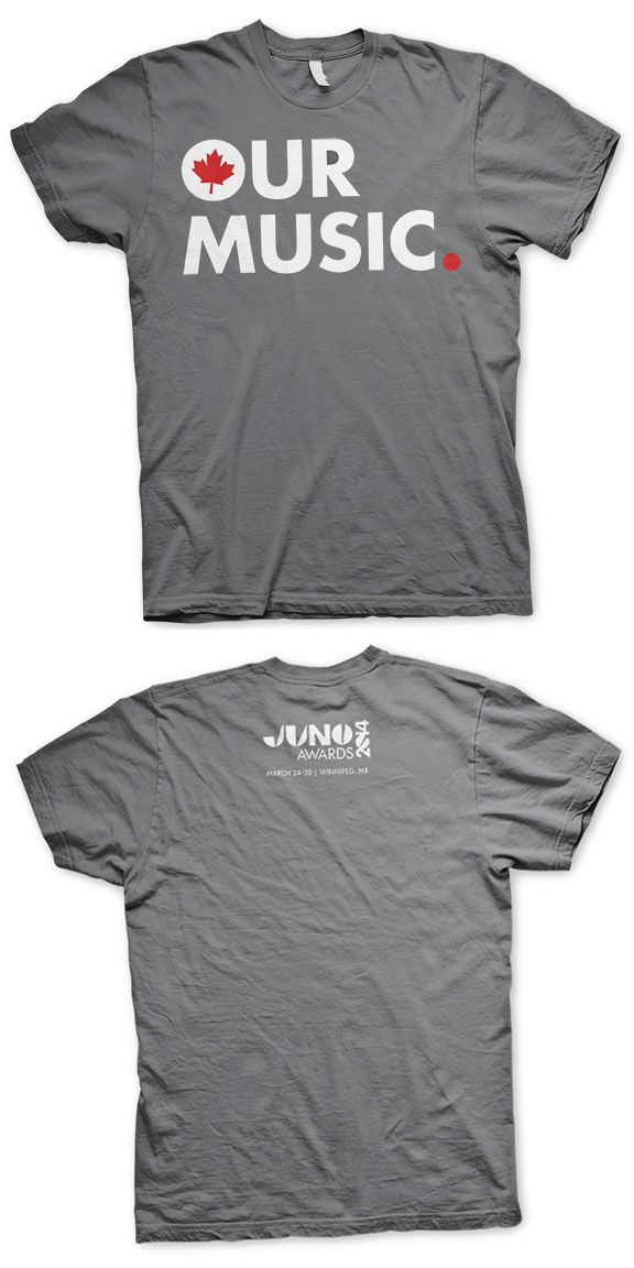 THE JUNO AWARDS Our Music Premium T-Shirt- Charcoal