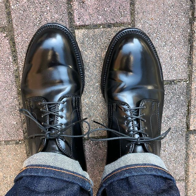 2018 06 14 08 11 09 Toruimoimo 今日も晴れ なので53511 Alden Aldenshoes Blackshellcordovan Cordovan オールデン オールデン53511 足元倶楽部 あしもと倶楽部 コードバン オールデン メンズファッション 靴