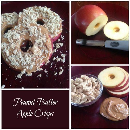 Peanut Butter Apple Crisps | Healthy Snack Recipes!