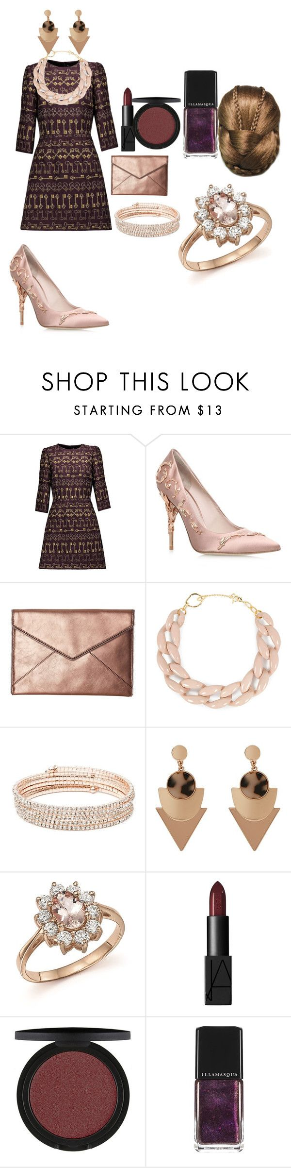 """""""Untitled #27"""" by jasminkavejzovic ❤ liked on Polyvore featuring Dolce&Gabbana, RALPH & RUSSO, Rebecca Minkoff, DIANA BROUSSARD, Anne Klein, Bloomingdale's, NARS Cosmetics and Illamasqua"""