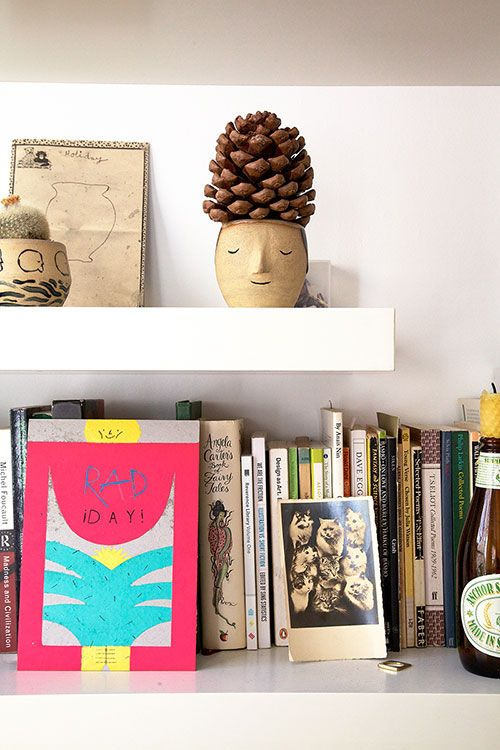 """Sneak Peek: William Edmonds and Hannah Swainston. """"Virtually any horizontal surface becomes a home for my pottery and various things we've picked up on trips and walks."""" #sneakpeek"""