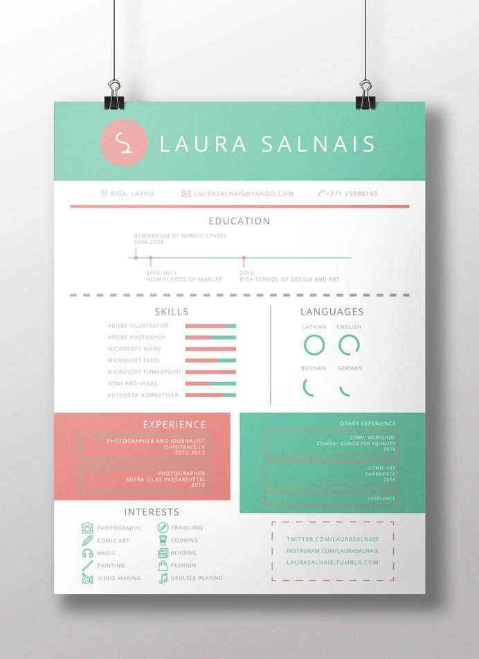 24 best Business images on Pinterest - resume with accent
