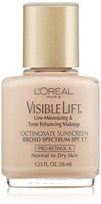 $6 L'Oreal Paris Visible Lift Line-Minimizing & Tone-Enhancing Makeup, Pale, 1.25 Ounces
