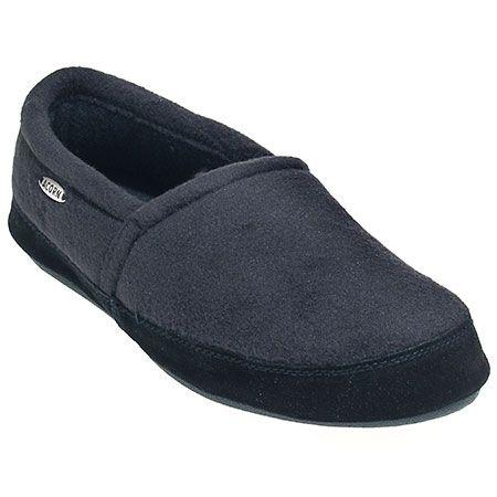 Acorn Slippers Men's Black A10086 BLK Polar Moc Fleece Slippers