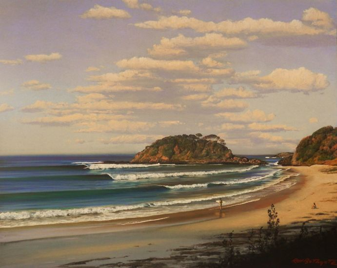 Perfect set, Seal Rocks by Rod Bathgate.  'The Galleries Masters'   Rod is arguably in the top 5 of Australia's best pastel artists. Steve's sculptures capture the viewer's attention because they are foremost colourful. Browse & buy here: http://goo.gl/Zxnvm1 #art #australianart #chg