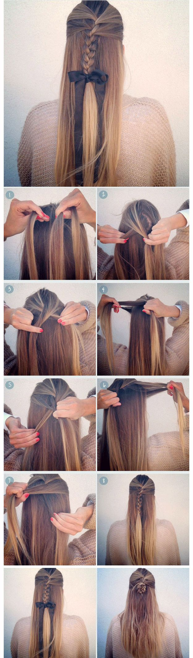 5 Easy Back-to-School Hairstyles for Long Medium Hair Tutorial