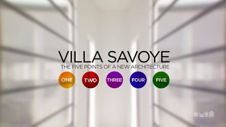 Villa Savoye: The five points of architecture. This is a personal project to show the five points of a new architecture proposed  by Le Corb...