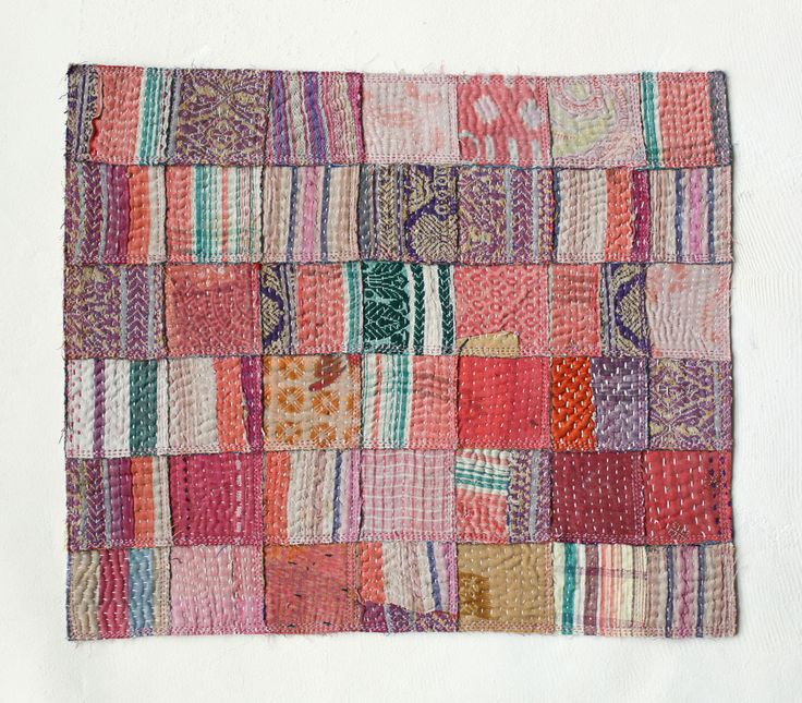 Table mat Cotton (Recycled from old quilted bedcovers, which were recycled from old Indian Sarees.) c. 2012