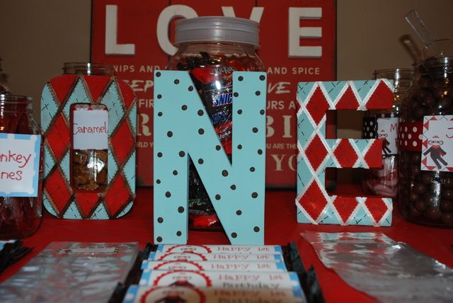 Great idea with the large numbers, buy blank and decorate to your own theme.