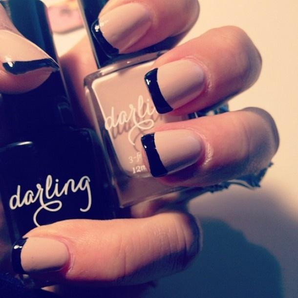 zwart en roze nagels Door inspiration