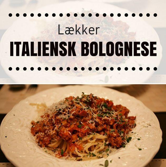 Vildt lækker opskrift på italiensk bolognese, der smager helt forrygende.