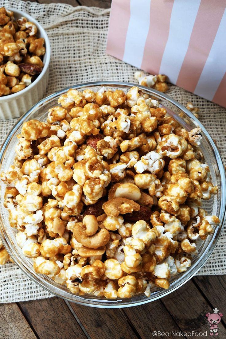 Homemade Easy Caramel Popcorn (Garrett) - Bear Naked Food