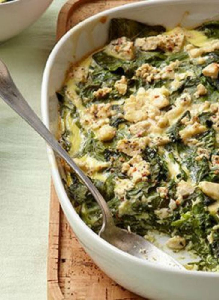 Mediterranean Baked Spinach Recipe. This warm and comforting dish is all you need for a perfect lunch or dinner.