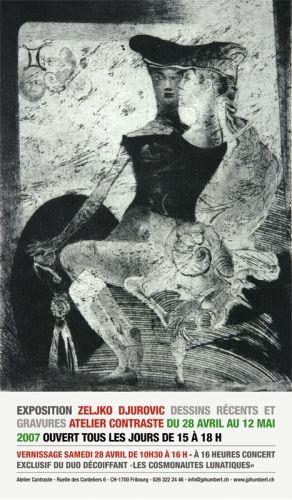 Affiche de l'exposition de Zeljko Djurovic