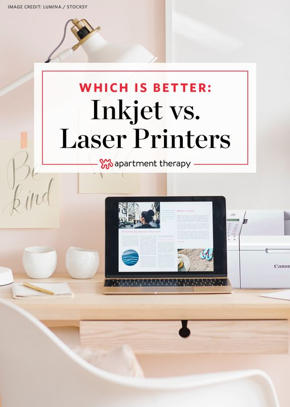 Pros & Cons for Home Use: Inkjet vs. Laser Printers | Inkjet printing creates a digital image by dropping spots of ink onto paper; laser printers produce digital images by scanning a laser beam across photoreceptors. So which is better? It depends. We've weighed out some pros and cons of inkjet vs. laser printers below to help you figure out which is best built for use in your home.