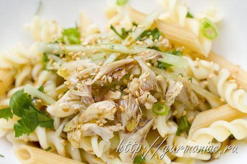 Рецепт салата из курицы и пасты (chicken and pasta salad)