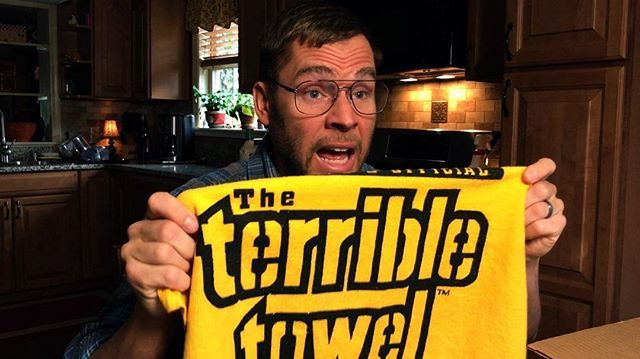 New video is now up! Dad's breaking out his special good luck charms for today's game! Link to our YouTube page in bio #steelers #herewego