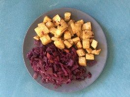 Recept rode kool met gebakken knolselderij
