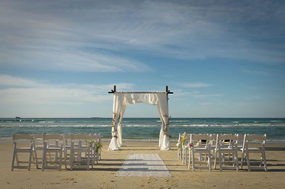 Stradbroke Island Events, Point Lookout - Beach Ceremony Setup - Brisbane Wedding Ceremony Venue