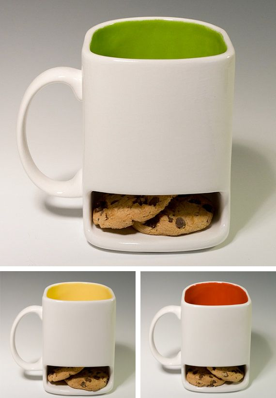 Mug with opening in the bottom for cookies...genius!