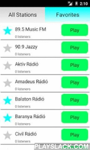 Hungarian Radio Online  Android App - playslack.com ,  Listen to Hungary Radio completely free! Many radio stations with different music genres like pop, rock, electro, dance, electro, hip hop, disco, RnB and classic. Examples of stations are:- Civil Rádió- Európa Rádió- Baranya Rádió- Amadeus Rádió- Fortuna Rádió- Gong Radioand others. If you like hungarian and international music, this is the best app for you!