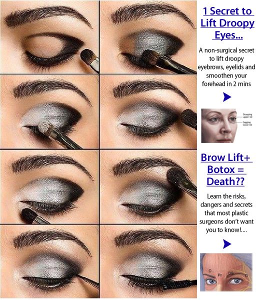 Very sexy! Dark smokey eye makeup tutorial. 1 secret to lift droopy eyes! Click image for more details about beauty!