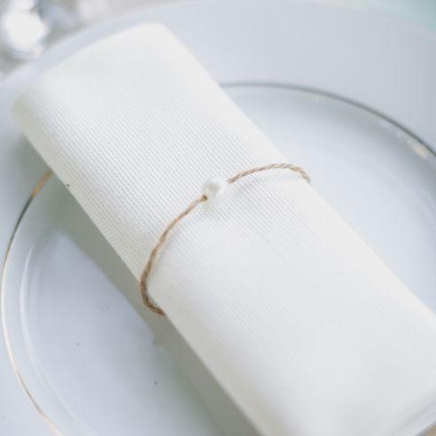 Rond de serviette ficelle : raffiné et facile à faire!