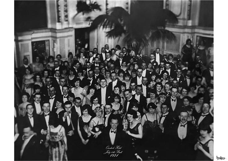 overlook hotel july 4th ball 1921 original photo