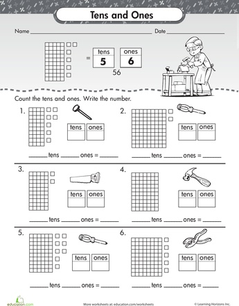 tens and ones. Black Bedroom Furniture Sets. Home Design Ideas