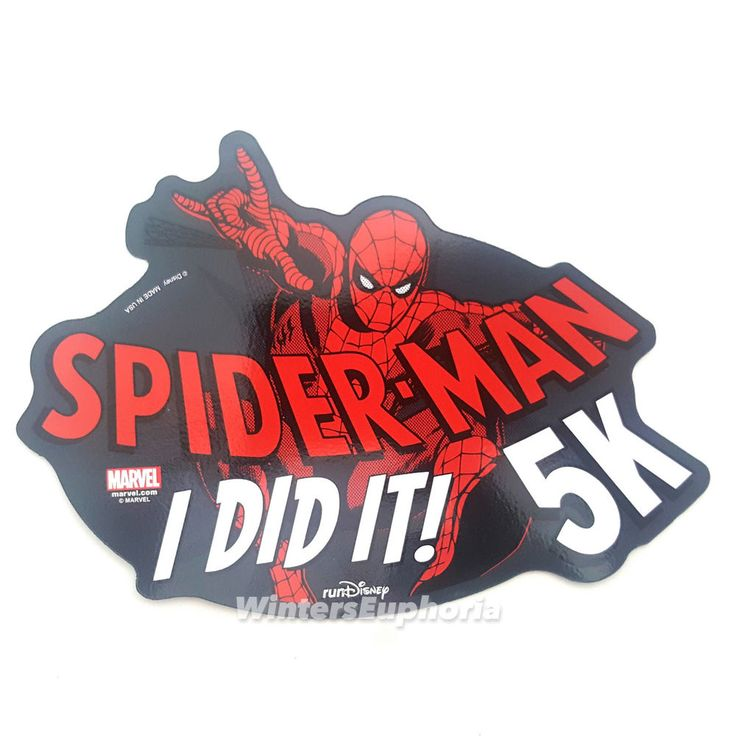 Marvel Spiderman Car Magnet Run Disney 5K Run I DID IT! RunDisney Half Marathon #Disney #runDisney #Spiderman #carmagnet  #ididit
