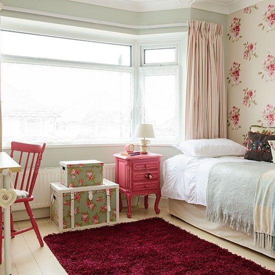Englisches Floral Mädchen-Schlafzimmer