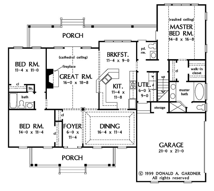 I Like This One Story House Simple And Open Floor Plan