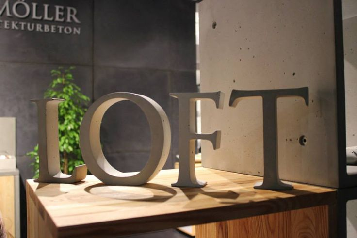 concrete letters home decor