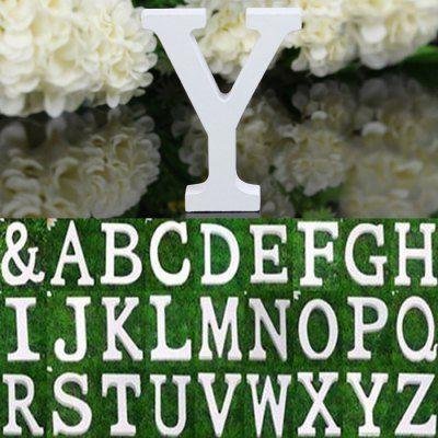 Hoy con el 21% de descuento. Llévalo por solo $7,000.Madera creativa Inglés Carta Decoración DIY del ornamento del arte del alfabeto.