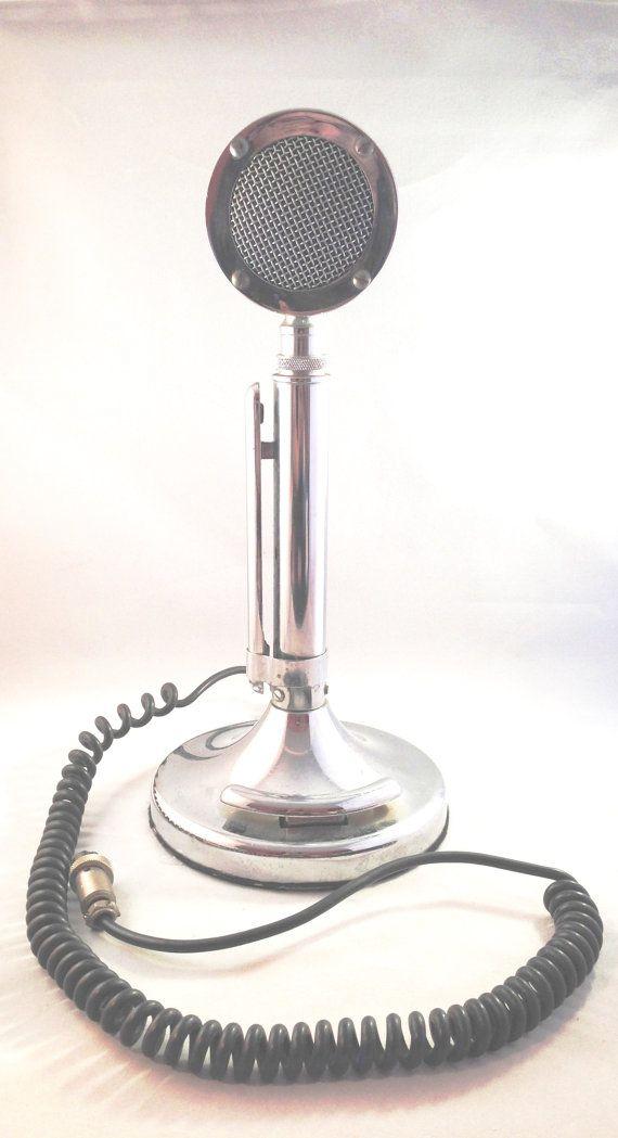 Astatic Silver Eagle Microphone, Ham CB Radio Vintage Mic