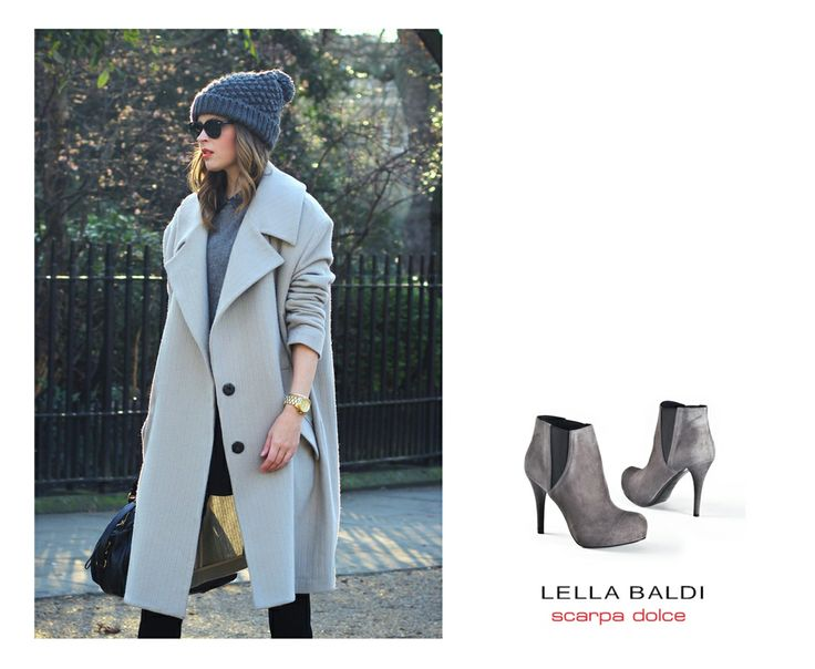 Combined wiht this gray Lella Baldi boots this look gains a glamour touch! :) Available on sklep.scarpadolce.pl