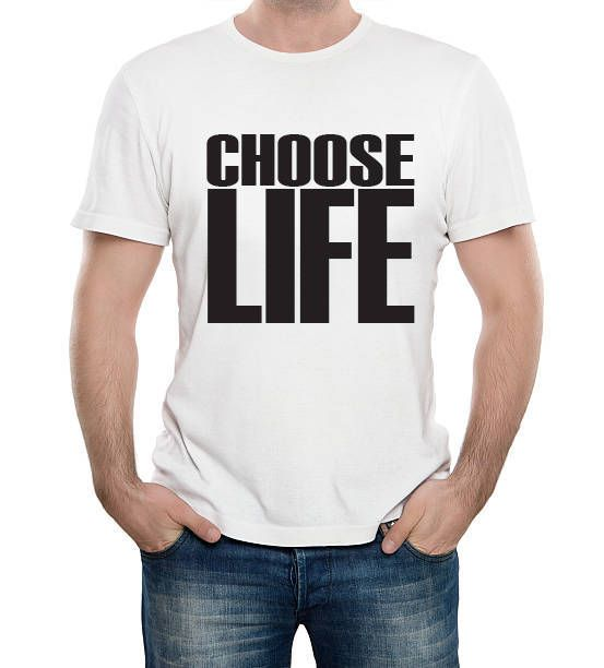 CHOOSE LIFE #KingslandRoad #Music #Tshirt #Retro #Cool #GeorgeMichael #Wham #80s http://etsy.me/2DtJIZF #clothing #white #black #musictshirt #dadtshirt #retrotshirt #menstshirt
