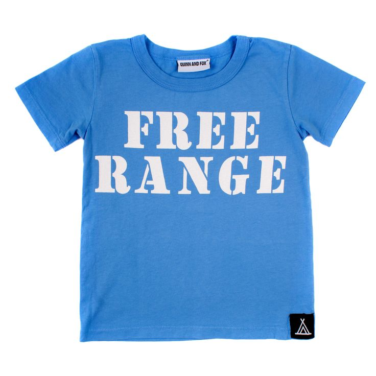 I AM FREE RANGE T-SHIRT from QUINN AND FOX