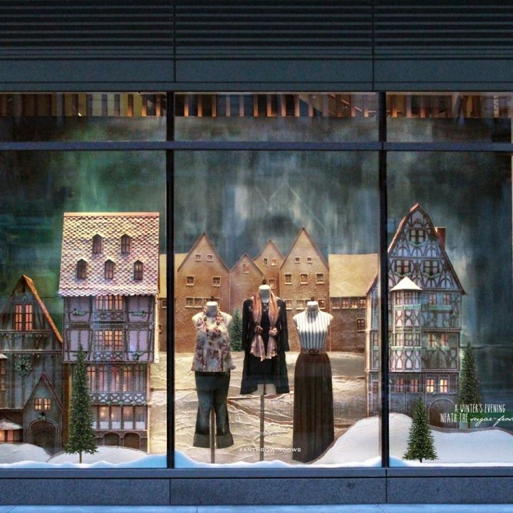 Anthropologie Holiday 2015 Windows Sugared & Spiced  Retail Design Blog