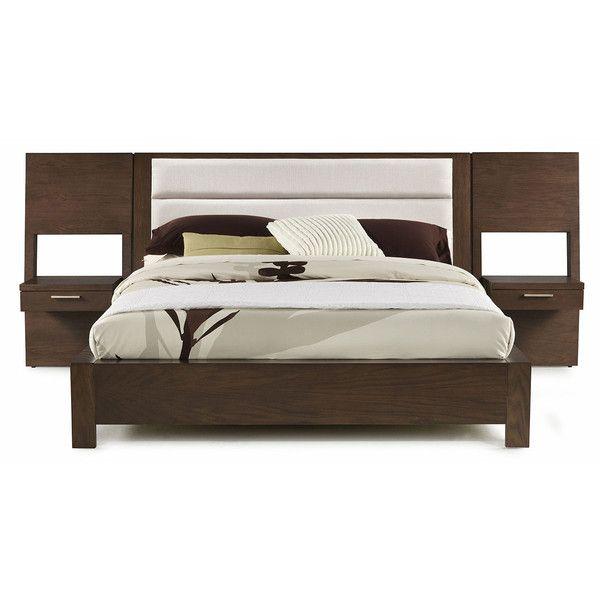 casana furniture hudson upholstered platform bed with panel night king upholstered platform - Upholstered Headboard King