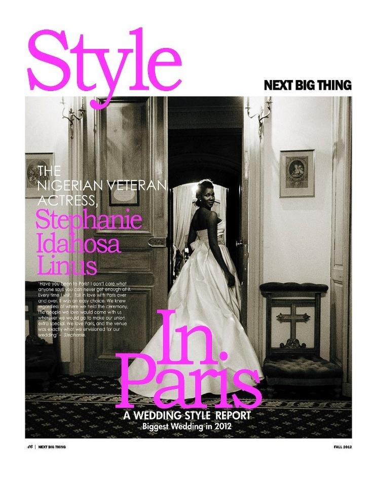 Inside editorial @nextbigthingmag with Stephanie Okereke Linus: Style In Paris.