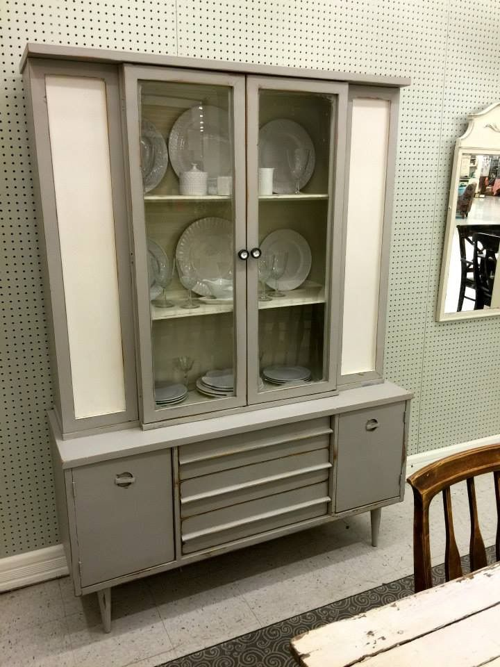 Mid Century Modern Redone! Rethunk Junk Furniture Paint In Gray Mist With  Linen Makes This