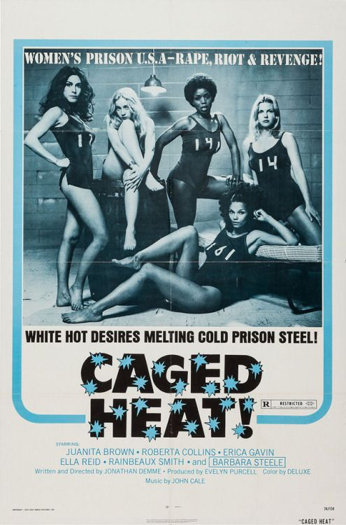 US one sheet for CAGED HEAT (Jonathan Demme USA 1974)Designer:... Movie Poster of the Day