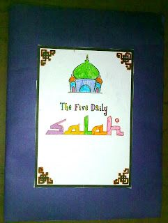 After learning about the Five Pillars Of Islam we moved a step further and learnt about .... Salah ....  We started with the preparation...