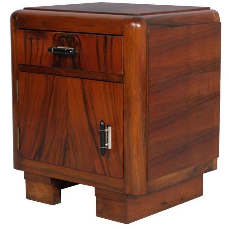 art moderne furniture. 1930s italian art deco walnut and applied bedside nightstand cabinet moderne furniture