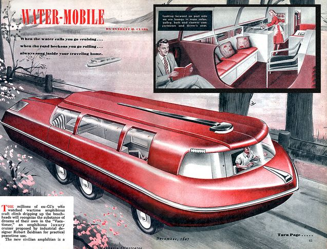 1947. The very last word in travel trailers!Vintage Trailers, 1947, Vintage Stuff, Retro Future, Water Mobiles, Rvs, Travel Trailers, X Ray, Vintage Campers