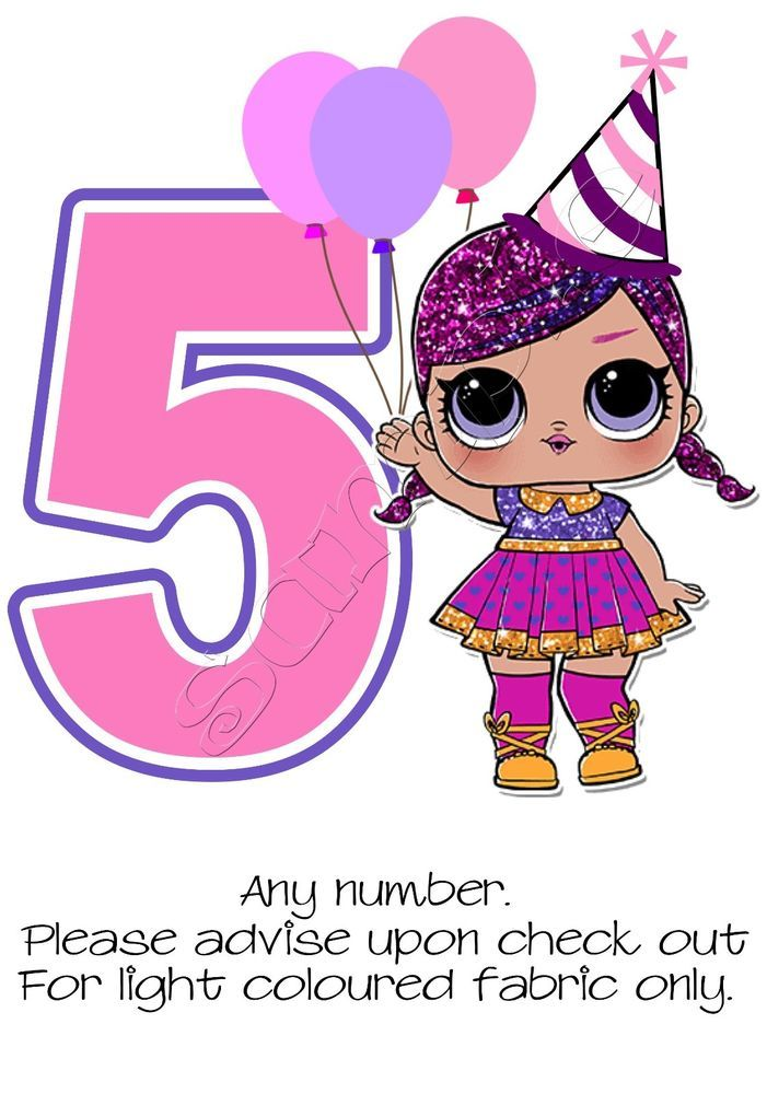 Details About Iron On Transfer Personalised Birthday Any Number